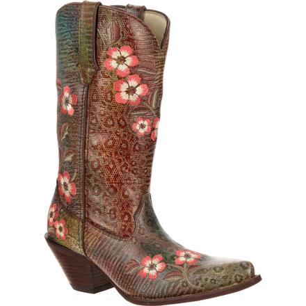 Crush by Durango Women's Floral Embroidered Western Boot, , large