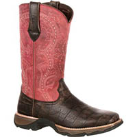 Lady Rebel by Durango Women's Gator Embossed Western Boot, , medium