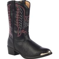 Durango Big Kid Black Lizard Western Boot, , medium