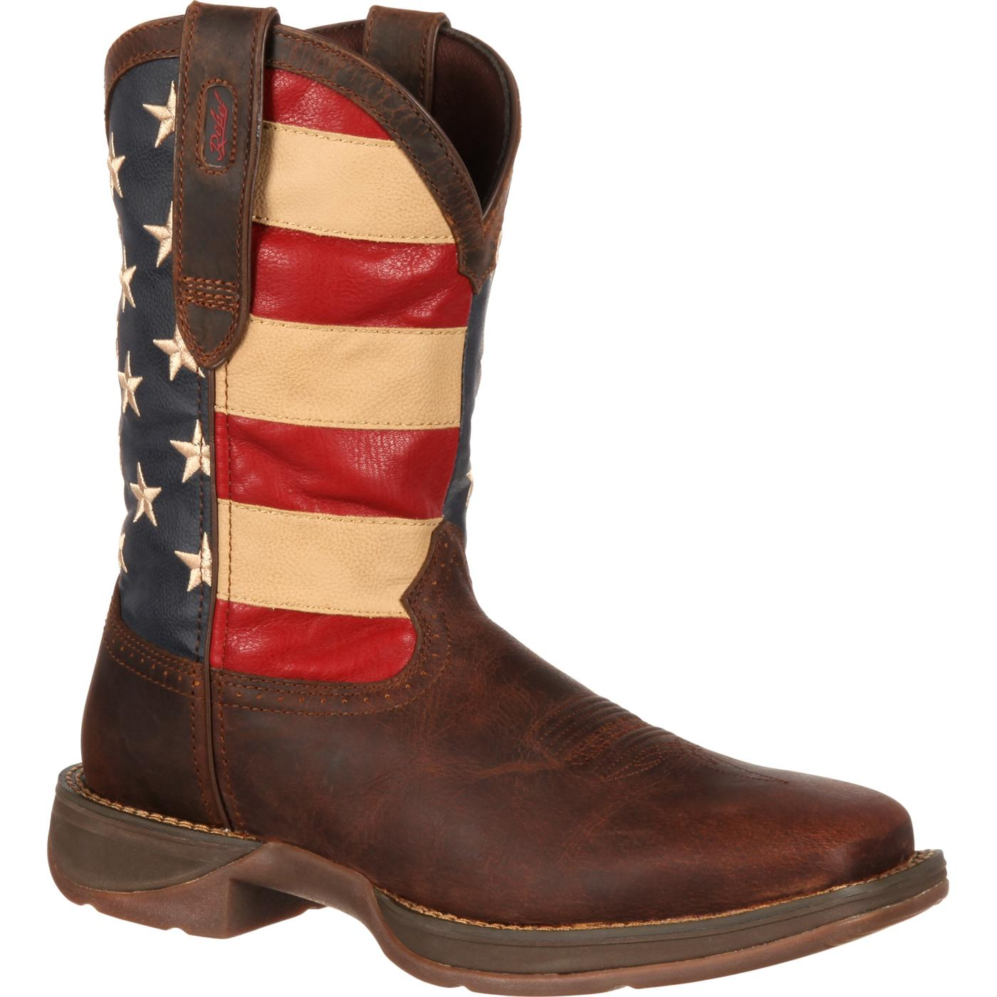American Flag Boots Rebel by Durango Mens Flag Western Boots