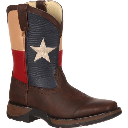 Lil' Durango Kids' Texas Flag Western Boot, , large