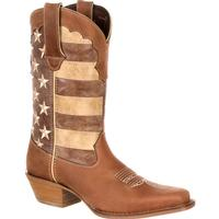 Crush by Durango Women's Distressed Flag Boot, , medium