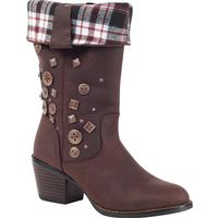 Durango City Philly Women's Turn Down Pull-On Boot, DARK BROWN, medium