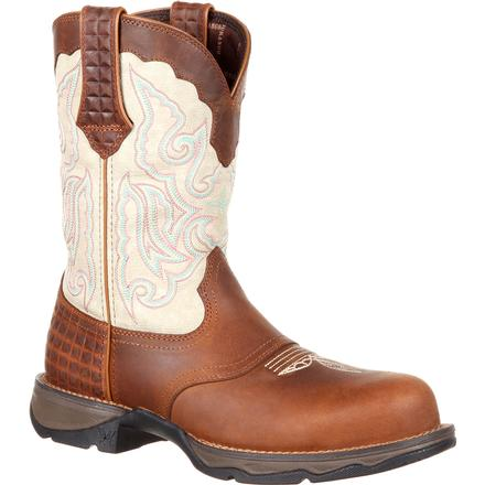 Lady Rebel by Durango Women's Composite Toe Saddle Western Boot, , large