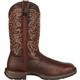 Rebel by Durango Dark Brown Pull-On Western Boot, , small