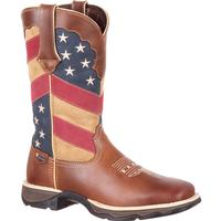 Lady Rebel by Durango Women's Patriotic Pull-on Western Flag Boot, , medium