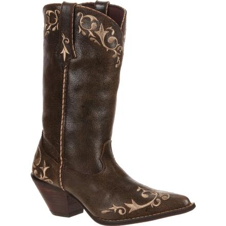 Crush by Durango Women's Chocolate Scroll Western, , large