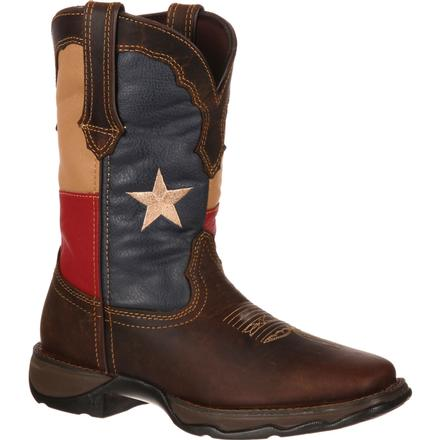 Lady Rebel by Durango Texas Flag Pull-On Western Boot, , large
