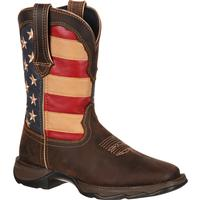 Lady Rebel by Durango Patriotic Pull-On Western Flag Boot, , medium