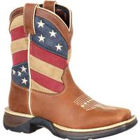 Lil' Rebel by Durango Big Kids' Patriotic Flag Western Boot, , medium