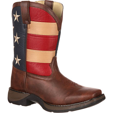 Lil' Durango Kid's Patriotic Western Flag Boot, , large