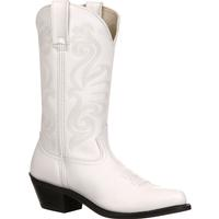 Durango Women's White Leather Western Boot, , medium