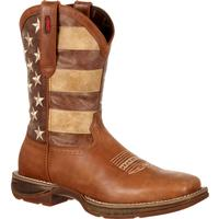 Rebel by Durango Faded Union Flag Western Boot, , medium