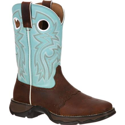 Lady Rebel by Durango Women's Powder n' Lace Saddle Western Boot, , large