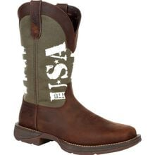 Rebel™ by Durango® Army Green USA Print Western Boot