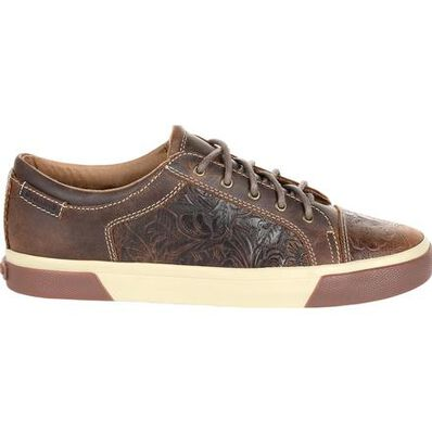 Durango® Music City™ Women's Western Embossed Lace-up Sneaker, , large