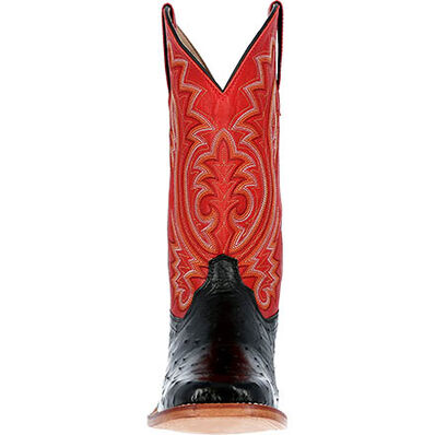 Durango® Premium Exotics™ Fiery Red Full-Quill Ostrich Western Boot, , large