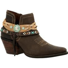 Crush™ by Durango® Women's Dark Chestnut Western Bootie