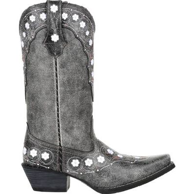 Crush™ by Durango® Women's Pewter Floral Western Boot, , large
