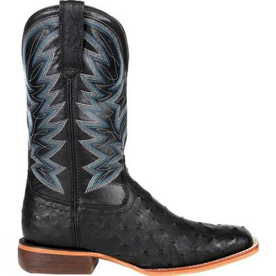 Durango® Premium Exotic Full-Quill Ostrich Black Western Boot, , large