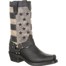Durango® Women's Black Faded Flag Harness Boot