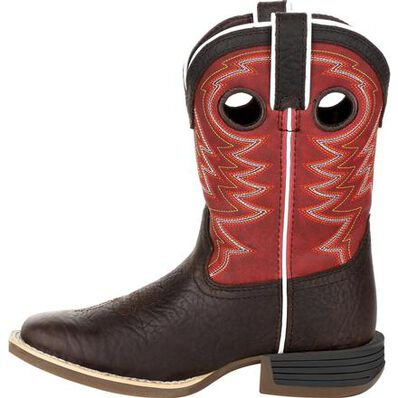 Durango® Lil' Rebel Pro™ Little Kid's Red Western Boot, , large