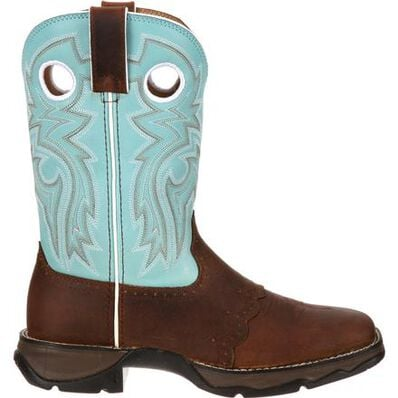 Lady Rebel™ by Durango® Women's Powder n' Lace Saddle Western Boot, , large
