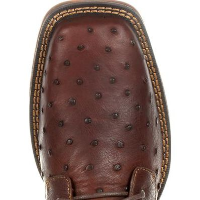 Durango® Red Dirt Rebel™ Antiqued Saddle Full-Quill Ostrich Chukka, , large