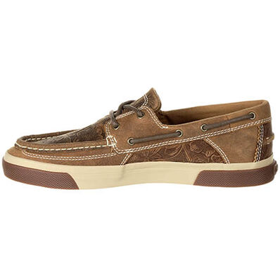 Durango® Music City™ Women's Western Emboss Boat Moc, , large