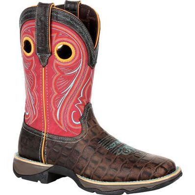 Lady Rebel™ by Durango® Women's Gator Emboss Western Boot, , large