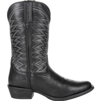 Durango® Rebel Frontier™ Black Western R-Toe Boot, , large