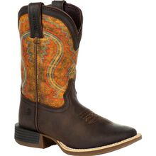 Lil' Durango® Rebel Pro™ Big Kid's Burnt Orange Western Boot