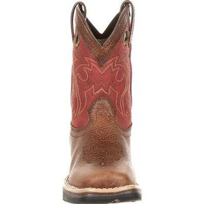 Lil' Rebel™ by Durango® Big Kids' Waterproof Western Saddle Boot, , large