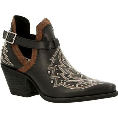 Crush™ by Durango® Women's Black Studded Western Fashion Bootie, , large