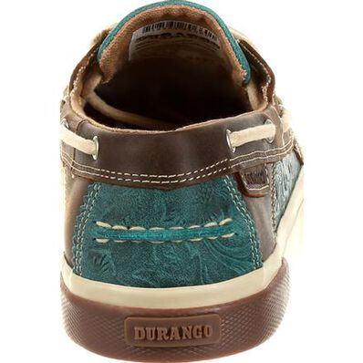 Durango® Music City™ Women's Turquoise Western Boat Moc, , large