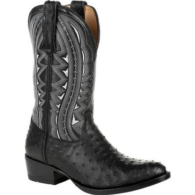 Durango® Premium Exotic Full-Quill Ostrich Ebony Western Boot, , large