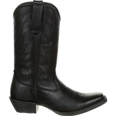 Durango® Women's Black Leather Western Boot, , large