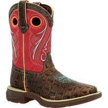 Lil' Rebel™ by Durango® Big Kids Gator Emboss Western Boot