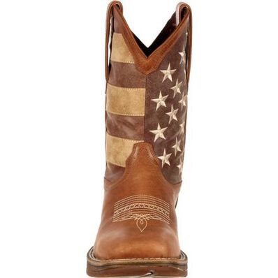 Rebel™ by Durango® Faded Union Flag Western Boot, , large