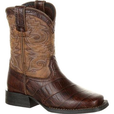 Lil' Durango® Mustang™ Little Kids' Faux Gator Western Boot, , large