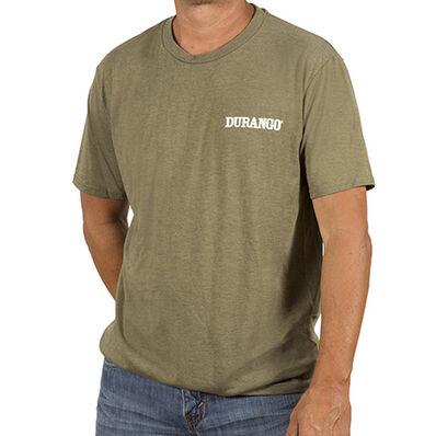 Durango® Unisex Triblend Tshirt, Military Green Frost, large