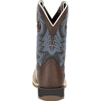 Durango® Lil' Rebel Pro™ Little Kid's Blue Western Boots, , large