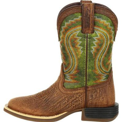 Lil' Durango® Rebel Pro™ Little Kid's Briar Green Western Boot, , large