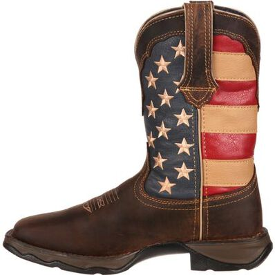 Lady Rebel™ by Durango® Patriotic Women's Pull-On Western Flag Boot, , large