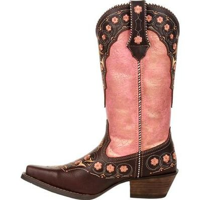Crush™ by Durango® Women's Vintage Rose Gold Floral Western Boot, , large