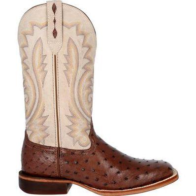 Durango® Premium Exotics™ Bone Full-Quill Ostrich Western Boot, , large