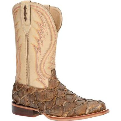 Durango® Premium Exotics™ Tobacco Pirarucu Western Boot, , large