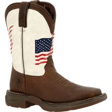 Lil' Rebel™ by Durango® Big Kids Distressed Flag Western Boot