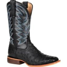 Durango® Premium Exotic Full-Quill Ostrich Black Western Boot