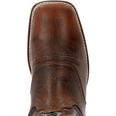 Durango® Westward™ Dark Chestnut & Black Onyx Western Boot, , large